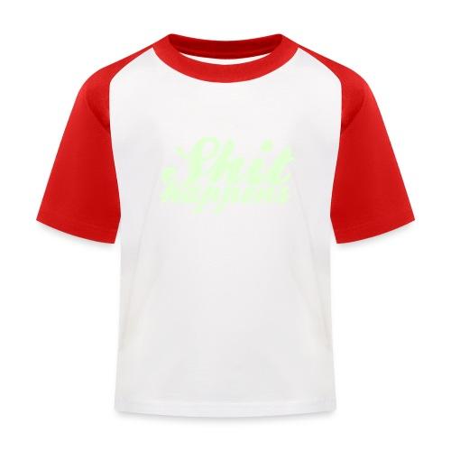 Shit Happens and Politics - Kids' Baseball T-Shirt