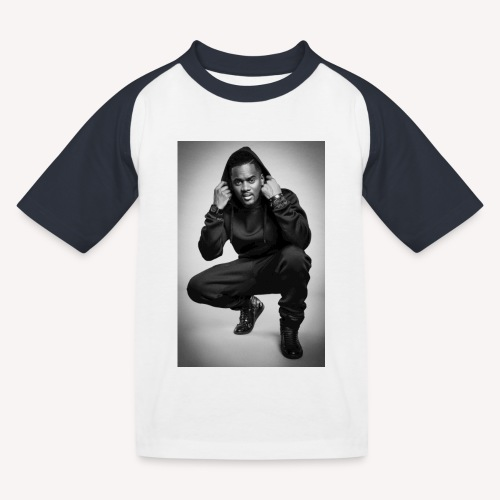 Black M - T-shirt baseball Enfant