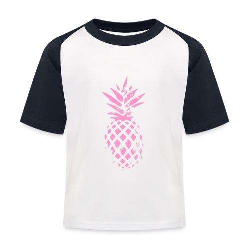 ananas rose - T-shirt baseball Enfant