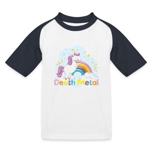 unicorn death metal - Kinderen baseball T-shirt