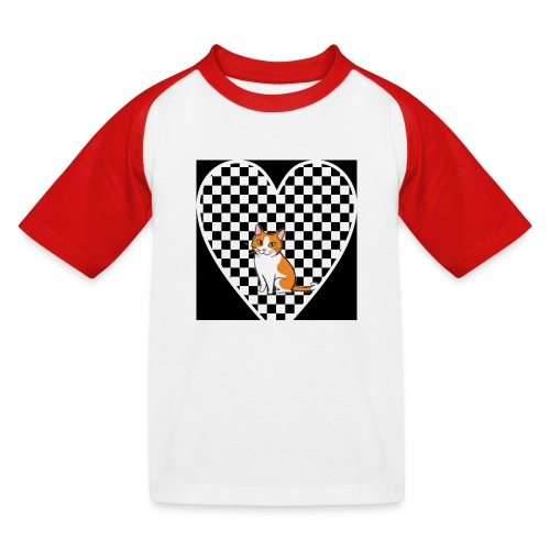 Charlie the Chess Cat - Kids' Baseball T-Shirt