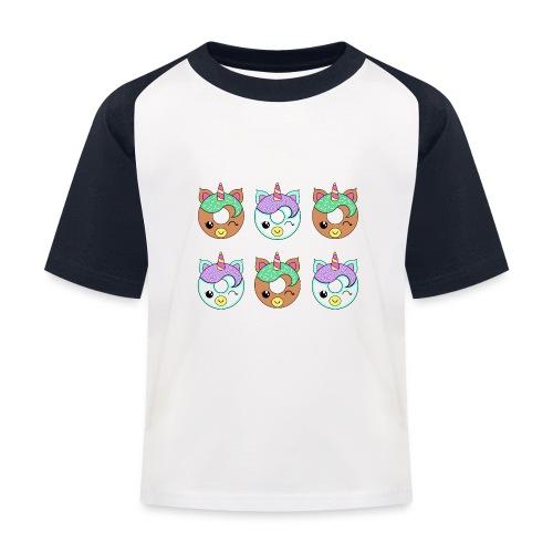 Unicorn Donut - Maglietta da baseball per bambini