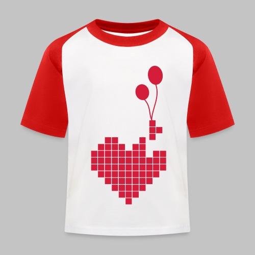 heart and balloons - Kids' Baseball T-Shirt