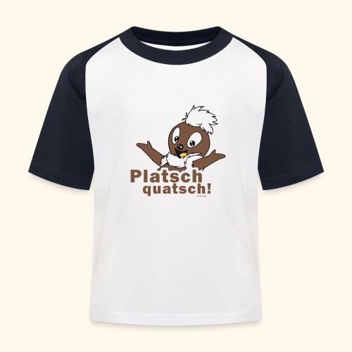 Pittiplatsch 2D Platschquatsch - Kinder Baseball T-Shirt