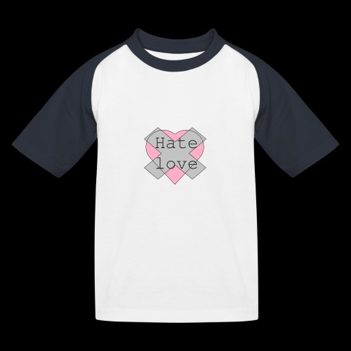 Hate love - Camiseta béisbol niño