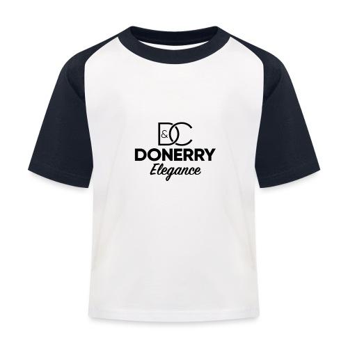 Donerry Elegance Black Logo on White - Kids' Baseball T-Shirt