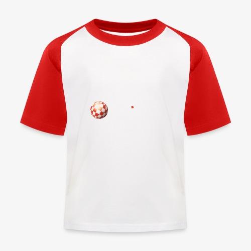 PoweredByAmigaOS white - Kids' Baseball T-Shirt