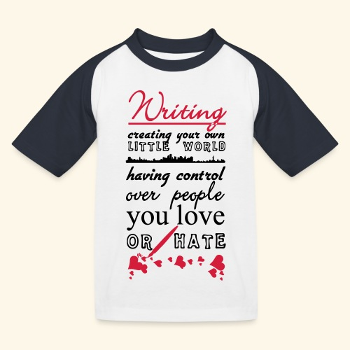 Writing - Kids' Baseball T-Shirt