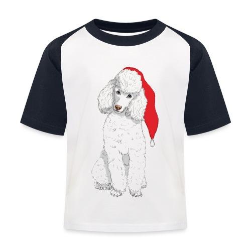 Poodle toy W - christmas - Baseball T-shirt til børn