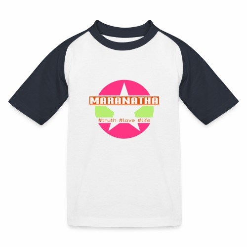 maranatha rosa-grün - Kinder Baseball T-Shirt