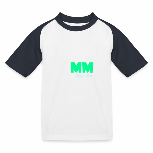 MattMonster Signature logo - Kids' Baseball T-Shirt