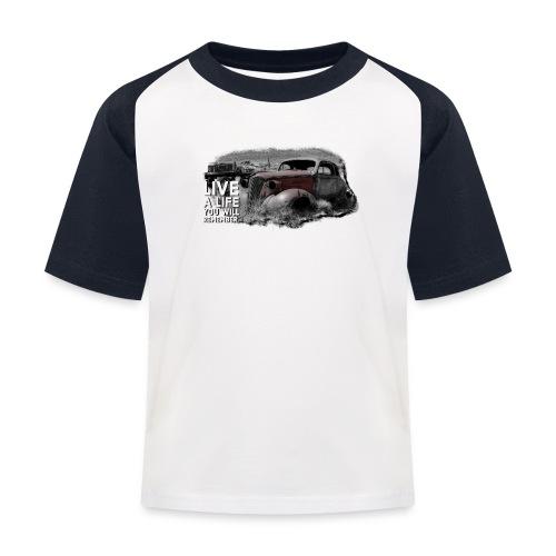 Live a life Oldtimer - Kinder Baseball T-Shirt