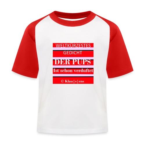 Gedicht DER PUPS - Kinder Baseball T-Shirt