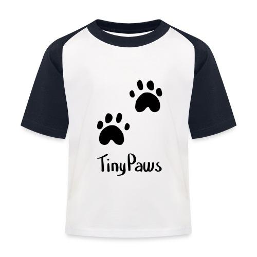 Tiny Paws Logo - Kids' Baseball T-Shirt