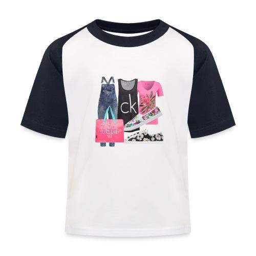 outfit pace e amoreio amo il colore - Maglietta da baseball per bambini