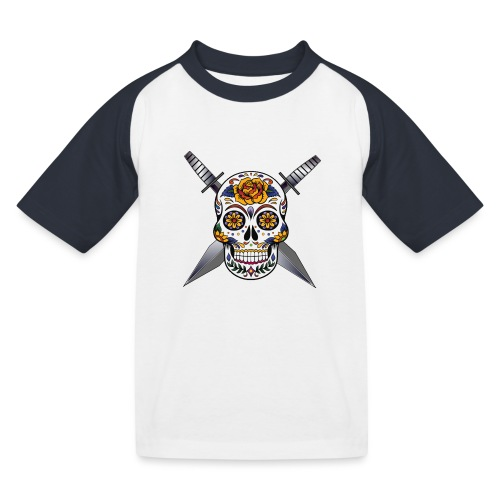 Cross skull swords - T-shirt baseball Enfant