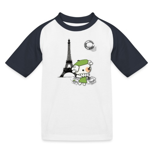 Paris - Kinder Baseball T-Shirt