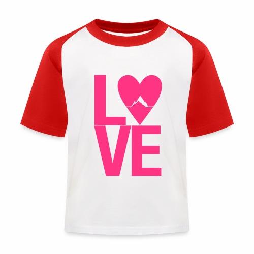 Mountain Love - Kinder Baseball T-Shirt