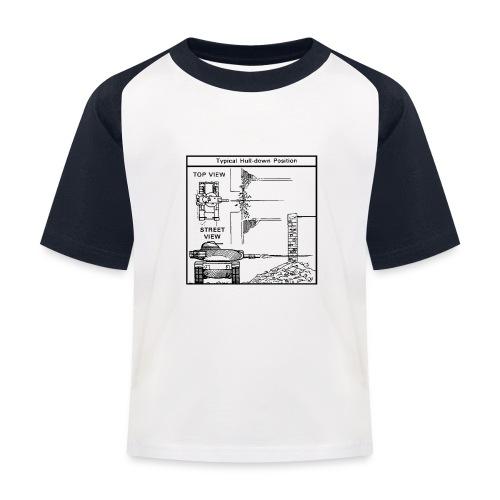 W.O.T War tactic, tank shot - Kids' Baseball T-Shirt
