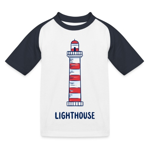 Lighthouse - Kinder Baseball T-Shirt