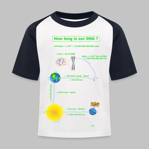 DNA lenght - Kids' Baseball T-Shirt