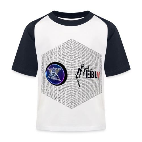 disen o dos canales cubo binario logos delante - Kids' Baseball T-Shirt