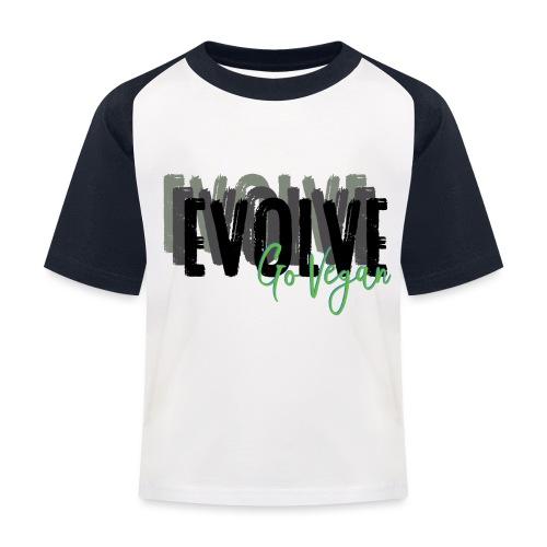 Evolve go Vegan - Kids' Baseball T-Shirt