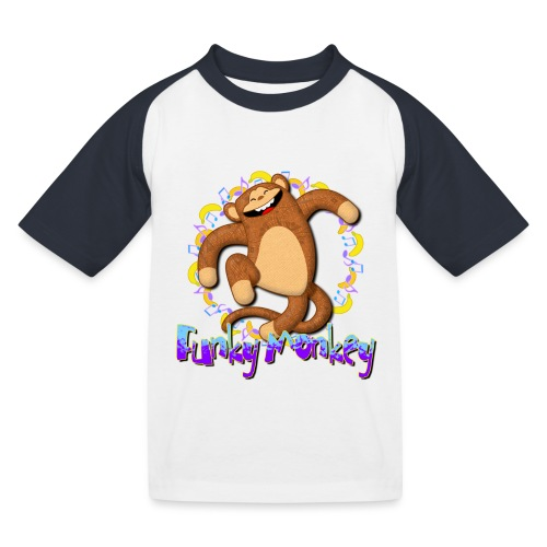 Funky Monkey - Maglietta da baseball per bambini