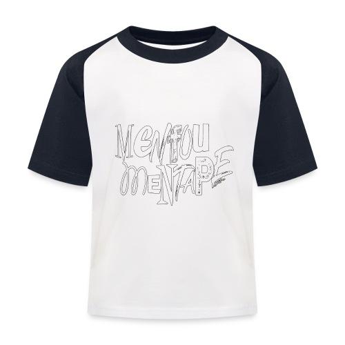MENFOUMENTAPE blanc et noir by Alice Kara - T-shirt baseball Enfant