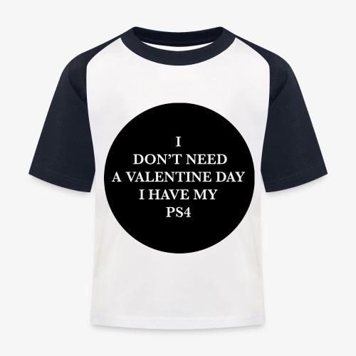 Valentine Day - Love videogame - Maglietta da baseball per bambini