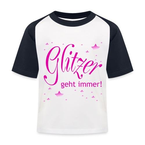 Glitzer geht immer - Kinder Baseball T-Shirt