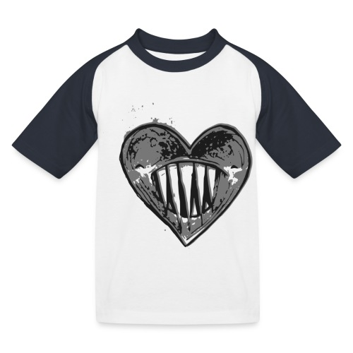 Corazón Negro - Camiseta béisbol niño