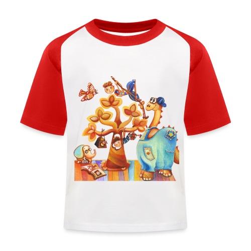 Dinosauro buono - Maglietta da baseball per bambini
