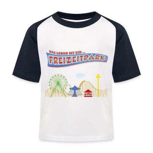 Das Leben ist ein Freizeitpark - Kinder Baseball T-Shirt