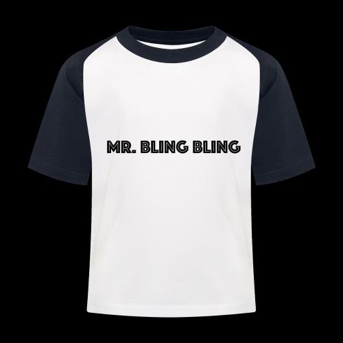 bling bling - Kinder Baseball T-Shirt