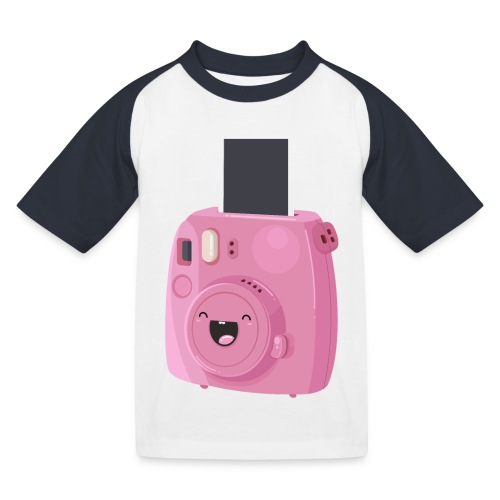 Appareil photo instantané rose - T-shirt baseball Enfant
