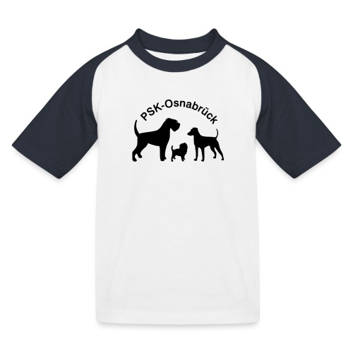 PSK-Logo Schwarz - Kinder Baseball T-Shirt