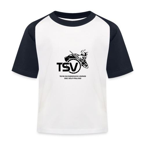 TSV logo koko musta - Lasten pesäpallo  -t-paita