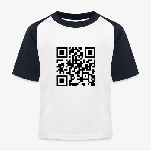 QR Code - Kids' Baseball T-Shirt