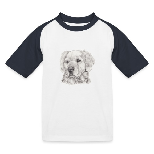 golden retriever - Baseball T-shirt til børn