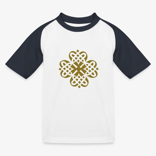 Shamrock Celtic knot decoration patjila - Kids' Baseball T-Shirt