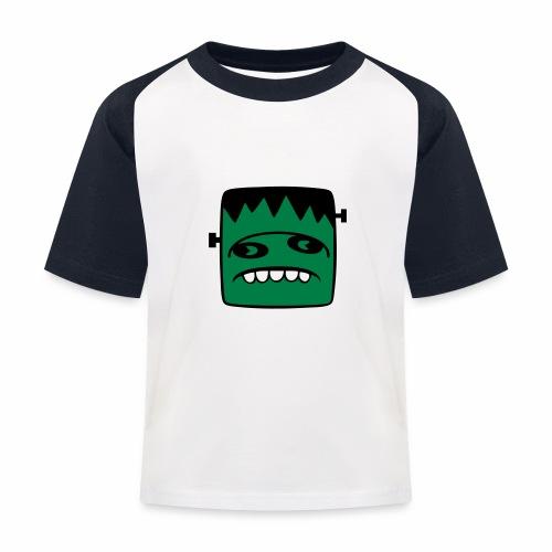 Fonster pur weißer Rand - Kinder Baseball T-Shirt