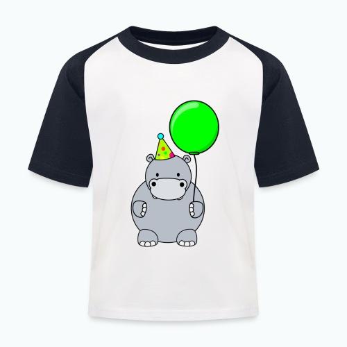 Henri Hippo Party - Appelsin - Baseboll-T-shirt barn