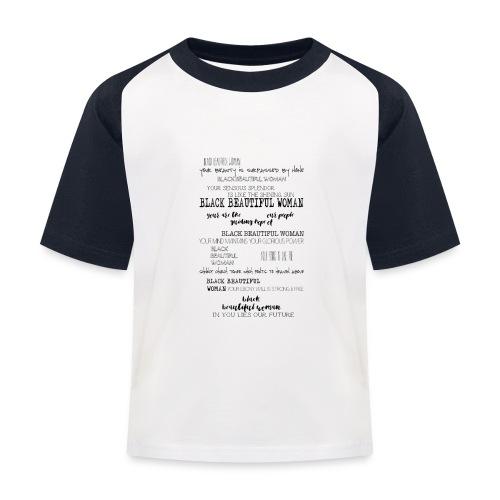 Beautiful Black Woman - Kids' Baseball T-Shirt