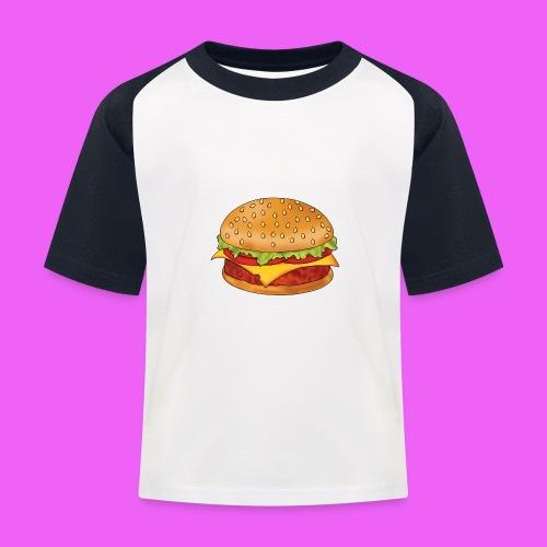 hamburguesa - Camiseta béisbol niño