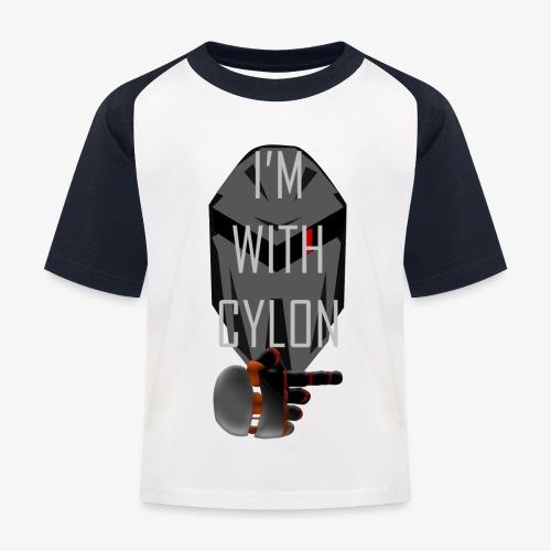 I'm with Cylon - Baseball-T-skjorte for barn
