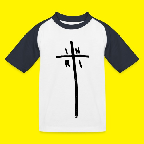 Cross - INRI (Jesus of Nazareth King of Jews) - Kids' Baseball T-Shirt