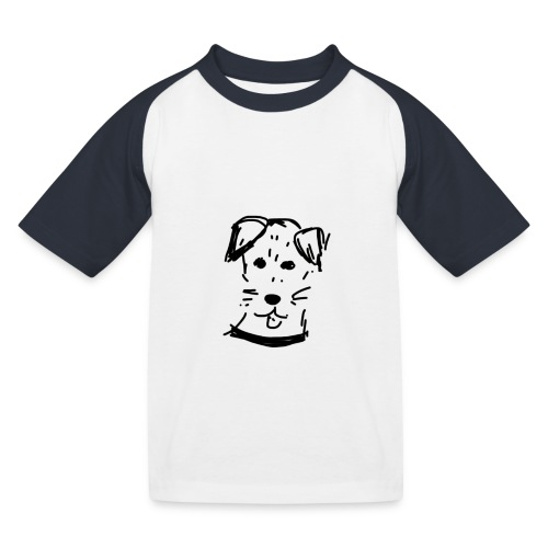 piesek a jpg - Koszulka bejsbolowa dziecięca