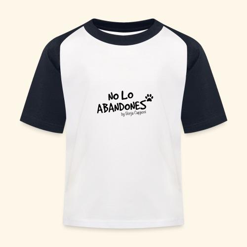 noloabandones negro - Camiseta béisbol niño