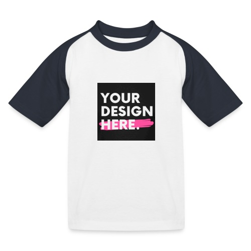 Custom-made - Baseboll-T-shirt barn